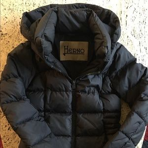 herno puffer coat with hood